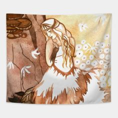 Tapestries by fairychamber Wall Tapestries, Tapestry, Whimsical Art, Illustration Art, Halloween, Home Decor, Tapestries, Wall Hangings, Room Decor