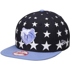 95c6d59c923 Memphis Grizzlies New Era Starry Cap Original Adjustable Hat - Navy Light  Blue