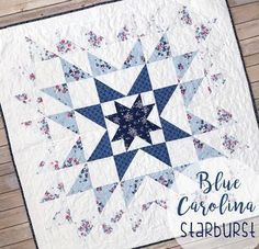 Blue Carolina Starburst Quilt {Free Pattern}