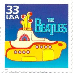 """In the town where I was born Lived a man who sailed to sea And he told us of his life In the land of submarines So we sailed on to the sun Till we found a sea of green And we lived beneath the waves In our yellow submarine. The Beatles """"Yellow Submarine"""" Beatles Party, The Beatles, Beatles Poster, Beatles Photos, Yellow Submarine Album, Beatles Singles, Commemorative Stamps, British Invasion, The Fab Four"""