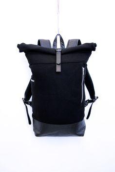 MKI Miyuki-Zoku Store – MKI BLACK ROLLTOP BAG