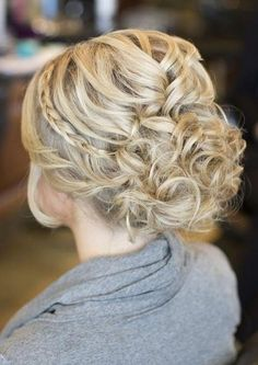 loose messy updo wedding hairstyle
