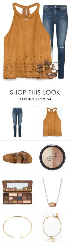 """HAPPY BIRTHDAY LINDS!"" by ellaswiftie13 on Polyvore featuring Paige Denim, Zara, Birkenstock, e.l.f., Kendra Scott, BaubleBar, Kate Spade and Pura Vida"