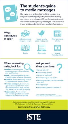 9 Lessons to Boost Media Literacy - Connectivity is a channel to knowledge, creativity and collaboration, but also invites a barrage of media messages that students must learn to interpret. Media Literacy, Literacy Activities, Teaching Resources, Media Influence, Information Literacy, Library Lessons, Library Skills, Student Guide, Media Studies