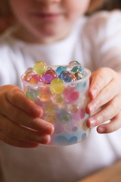 Water beads are magical for kiddos -