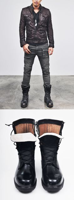 Shoes :: Authentic Military Combat Boots-Shoes 135 - Mens Fashion Clothing For An Attractive Guy Look