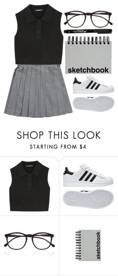 """#331"" by the777 ❤ liked on Polyvore featuring Neil Barrett, adidas, Illesteva and Paperchase"