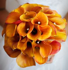 mango calla lilies and cream roses - Google Search