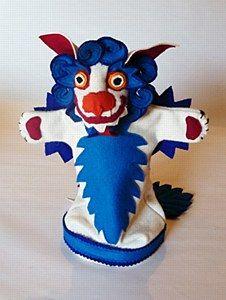Snow Lion Puppet - Blue