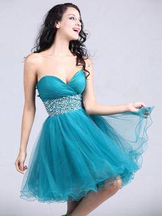 Short Blue prom dress
