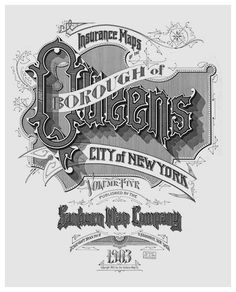The Typography of Sanborn New York City Maps – Title pages from maps issued between 1885 and 1917