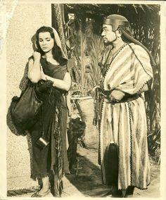 Edward G Robinson Debra Paget..... The Ten Commandments 1956 Movie Photo