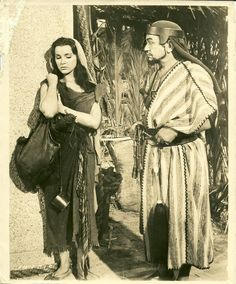 Edward G Robinson Debra Paget..... The Ten Commandments 1956 Movie Photo
