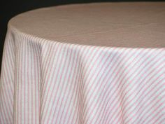 Morgan Stripe Custom Print Rectangle Tablecloths