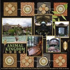 Animal Kingdom scrapbook page , photos - Bing Images