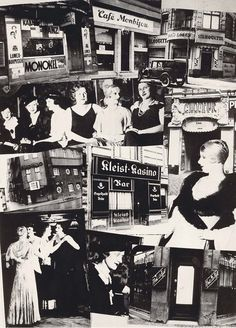 Gay and lesbian bars in Berlin, all of which were shut Down - May, 1933 - Collage from the anti-Semitic Nazi magazine Der Notschrei