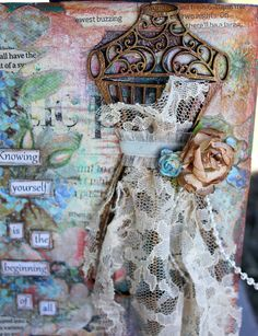 This is a quick canvas I started awhile ago using the Wire Dress Form from the Jan/Mar release.         I think I have used the Vintage and...