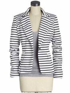 Love the nautical feel of the blazer