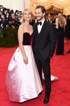 Met Gala 2014: The 10 best dressed couples on last night's epic red carpet // Claire Danes in Oscar de la Renta and Hugh Dancy in Prada