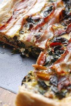 Rainbow Chard Tart : cookalmostanything