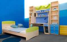 To decorate boy's room is very easy because you can design it with using simple design. Well, in this review you will find some boys room paint ideas with the best design that can inspire you. You can see on the picture, this bedroom design is using small space.This bedroom is using bunk bed design that made from wooden material and using white color design. This bedroom is also completed with study room which has simple furniture.
