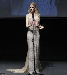 On top of her game! Nicole Kidman stuns onlookers as she receives the Lifetime Achievement Award at Mexico's International Cinema Festival