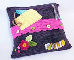 Image Result For Crochet Fidget Blanket Fiddle Blanket