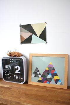 DIY affiche à motifs géométriques