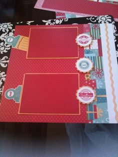 CTMH Holiday Jingle Scrapbook Layout
