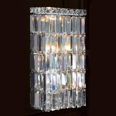 Buy the Worldwide Lighting Chrome Direct. Shop for the Worldwide Lighting Chrome Cascade 4 Light ADA Wall Sconce in Chrome with Clear Crystals and save. Bathroom Sconce Lighting, Bathroom Wall Sconces, Wall Sconce Lighting, Crystal Wall, Clear Crystal, Crystal Chandeliers, Lighting Sale, Interior Lighting, Lighting Ideas