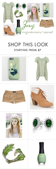 """""""Zoey- Minecraft Diaries"""" by mynameis-secret ❤ liked on Polyvore featuring Nostalgia, Aéropostale, Qupid, Bling Jewelry, Bernard Delettrez and ORLY"""