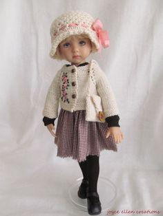 "13"" Dianna Effner Little Darling Fashion Brown & Pink 5 pc OOAK handmade by JEC #JoyceEllenCreations"