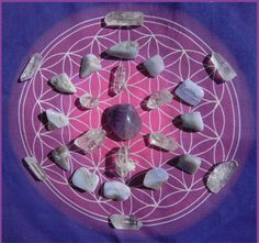 A crystal grid is a pattern made up of sacred shapes such as the Flower of Life included in this kit. When we align these shapes with gemstones and crystals it creates an energy vortex that can be used for self healing, healing others, self attunement, mediation, prayer, distance healing, affirmations and intentions, re-charging space, and communication with our higher self, planet earth & spirit.
