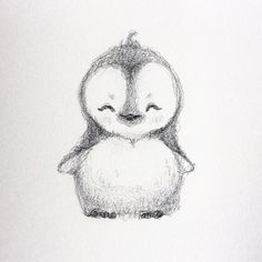 WIM Enjoyed and Liked on instagram from selenada8: Haha decided to draw a little cute penguin  #penguin #drawing #cute by selenada8
