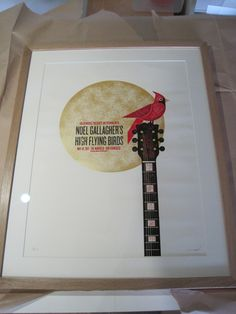 Oak frame-poster-Noel Gallagher High Flying Birds