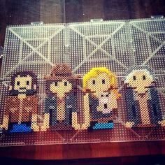 The Walking Dead perler beads by iprincesspeachy