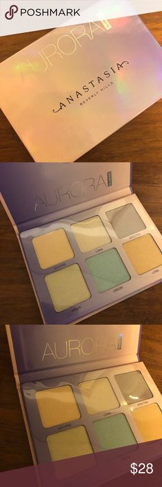 Anastasia Beverley Hills AURORA Glow Kit New in Packaging!! // iridescent and metallic finishes //  never been used other than just swatching! Anastasia Beverly Hills Makeup