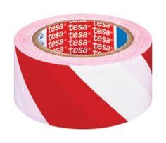 TESA 60760 Safety Tape Rød/Hvid | Dansk webshop - udenlandske priser - Til håndboldmål i kælderen?