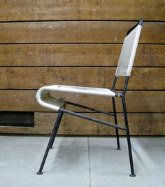 Anonymous; #122 Tubular Metal and Cord Chair by Inco, 1950s.