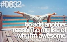 Reason to be fit: to add another reason to my list of why I'm awesome