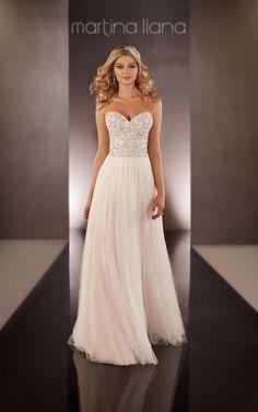 To see more gorgeous Martina Liana wedding dresses: http://www.modwedding.com/2014/11/22/special-preview-martina-liana-wedding-dresses-2015-collection/ #wedding #weddings #wedding_dress