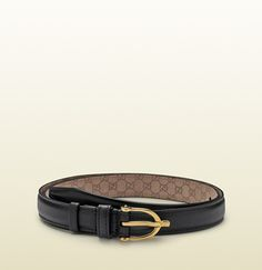 black leather skinny belt with spur buckle by Gucci Skinny Belt, Luxury Fashion, Black Leather, Style Inspiration, My Style, Belts, Accessories, Shopping