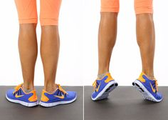 10 Ankle-Strengthening Exercises To Prevent Sprains & Twists Calf Raises – External Rotation Fitness Diet, Fitness Motivation, Health Fitness, Fitness Quotes, Workout Fitness, Ankle Strengthening Exercises, Calf Exercises, Ankle Stretches, Calf Workouts