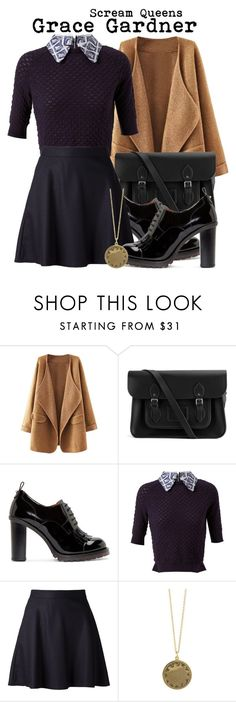 """""""Scream Queens- Grace Gardner"""" by darcy-watson ❤ liked on Polyvore featuring The Cambridge Satchel Company, Valentino, Carven, The Row and House of Harlow 1960"""