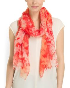 9d86bf444979ef Made In Italy Cashmere Tie Dye Scarf - Jewelry & Accessories - T.J.Maxx