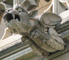Washington National Cathedral Gargoyles: Feline Dragon (49) in Washington, D.C. by Frederick E Hart, Carl L Bush
