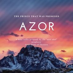 Azor: The prince that was promised - Gaelic Baby Names - Ideas of Gaelic Baby Names - This unique name is inspired by Game of Thrones. The prophecy Azor ahai means the prince who was promised. A great name for a great little prince! Unusual Baby Names, Cool Baby Names, Cute Names, Unique Names, Unique Words, Kid Names, Cool Gamer Names, Best Gaming Names, Fantasy City Names