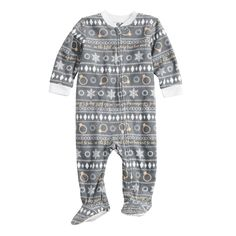 b7c886fa9a Baby Infant Jammies For Your Families Happy Holidays Fairisle Family  Pajamas Microfleece Blanket Sleeper Footed Pajamas