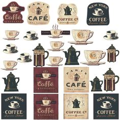 Amazon.com - Coffee House, Bakery Shop, Cafeteria, Lounge Room, Kitchen Wall Sticker Decor Decal Decoration -