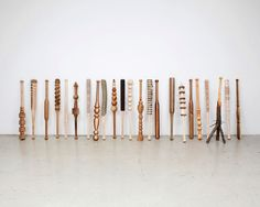 turnaround: thirty wood turned baseball bats by vincent kohler